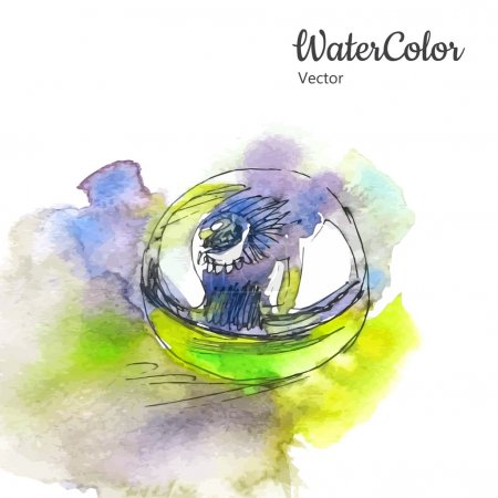Vector hand painting watercolor illustration of perfume