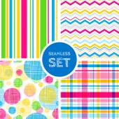 Vector set of four seamless backgrounds Patterns for scrap-booking fabric design Eps10