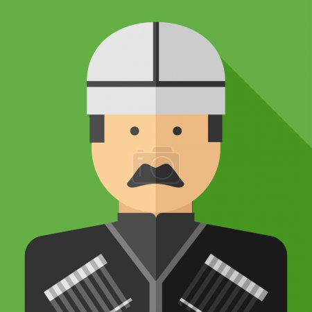 flat design of georgian man