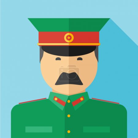 flat design of ussr military man