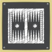 backgammon table icon