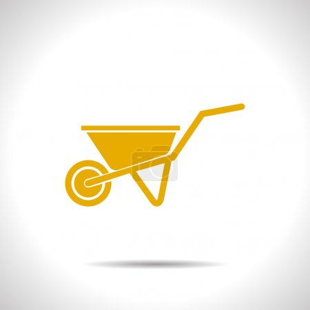 Vector color flat barrow icon