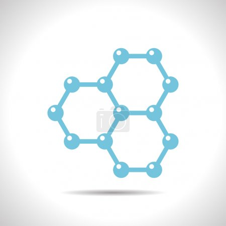 Illustration for Vector flat color graphene icon  on white background . Science illustration - Royalty Free Image