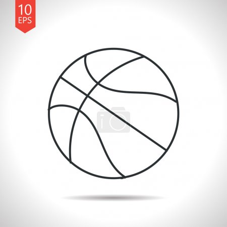 Outline basketball icon