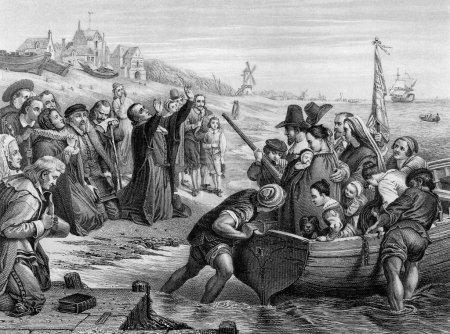 Pilgrim Fathers leaving England