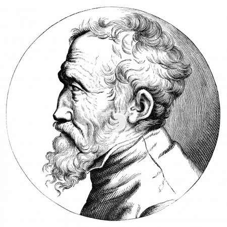 Michelangelo portrait engraving
