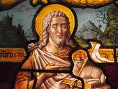 "Постер, картина, фотообои ""Иисус Христос витраж"""
