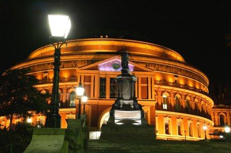 The Royal Albert Hall at night