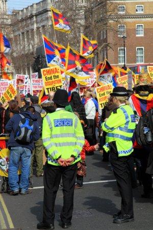 Tibetan Demonstration In Whitehall