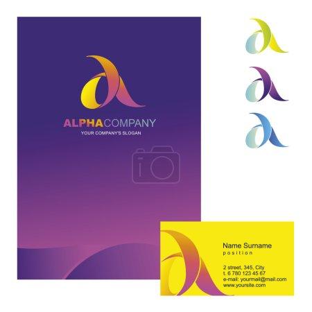 A-letter -  logo design concept