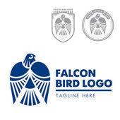 Template corporate company signs Bird eagle falcon Corporate style Male logo Serious rigorous Falcon hunting