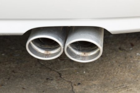 a part of modern cars , exhaust pipe of car
