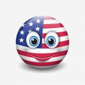 USA flag smiley