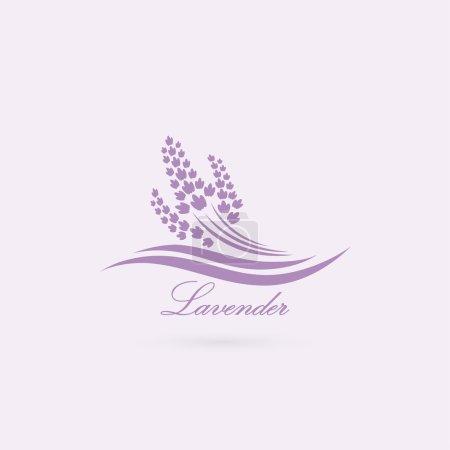 Illustration for Lavender label  illustration - Royalty Free Image