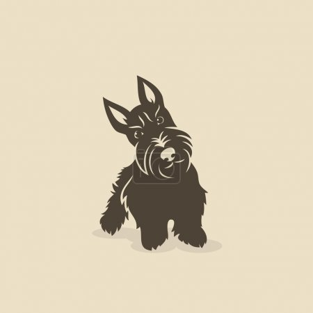 Scottish terrier - vector illustration...