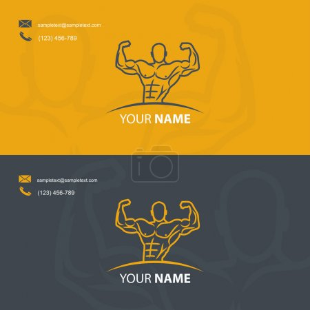Business card template for bodybuilders