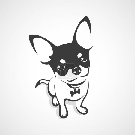 Illustration for Chihuahua dog - vector illustration - Royalty Free Image