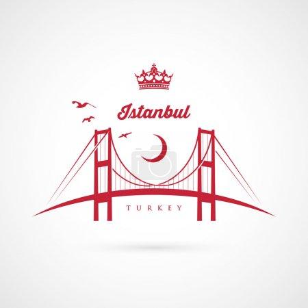 Istanbul bridge symbol