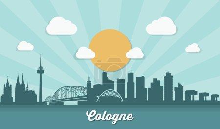Cologne city skyline