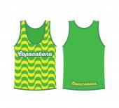Tank top shirt with Copacabana pattern