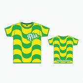 T-shirt with Copacabana pattern