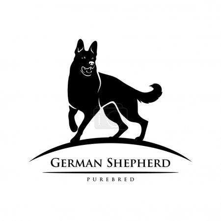 German shepherd dog symbol