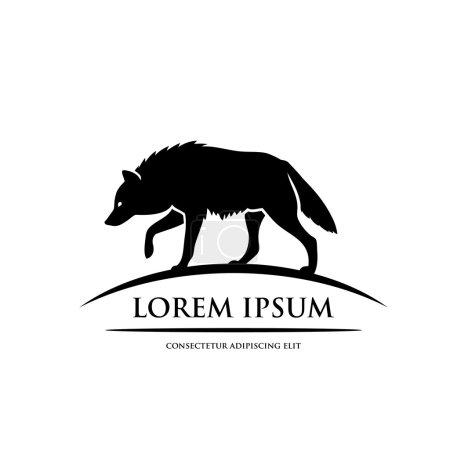 Illustration pour Symbole de silhouette loup - illustration vectorielle - image libre de droit