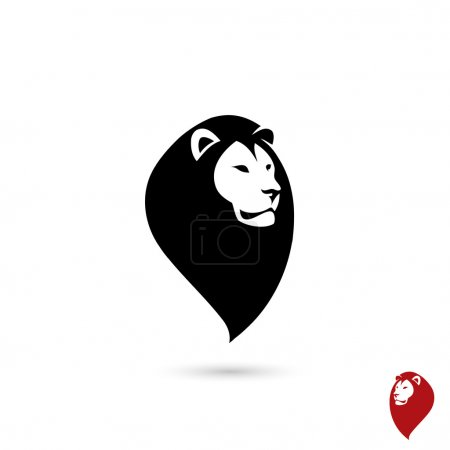 Illustration pour Symbole tête de lion - illustration vectorielle - image libre de droit