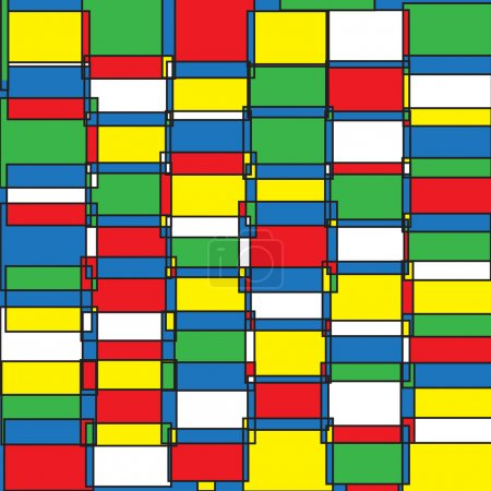 Vector seamless abstract pattern in pop art style...