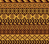 Vector seamless african pattern with geometric elements
