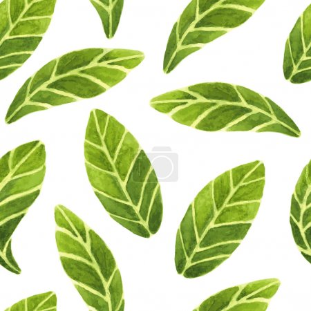 Fresh and beautiful vector seamless pattern with g...