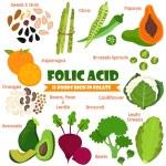 Vitamins and Minerals foods Illustrator set 14.Vec...