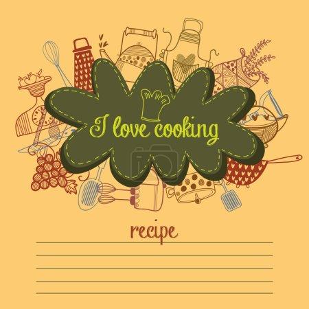 Cute recipe  card template