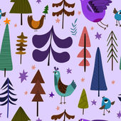 Lovely Christmas seamless pattern with Christmas trees