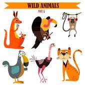 Insieme di animali selvatici