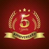 5 Years Anniversary Seal