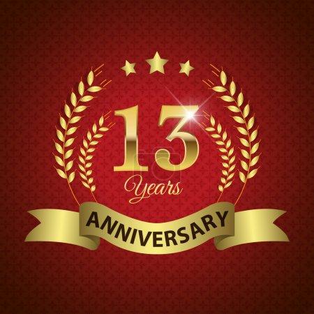 13 Years Anniversary Seal