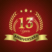 13 Years Anniversary Seal
