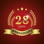 28 Years Anniversary Seal