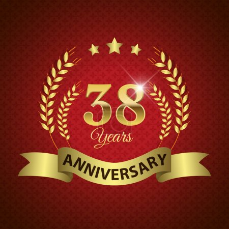 38 Years Anniversary Seal