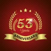 53 Years Anniversary Seal