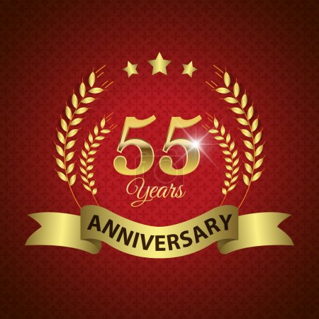 55 Years Anniversary Seal