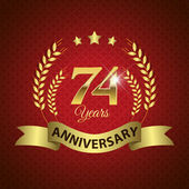 74 Years Anniversary Seal