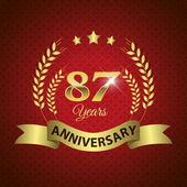 87 Years Anniversary Seal