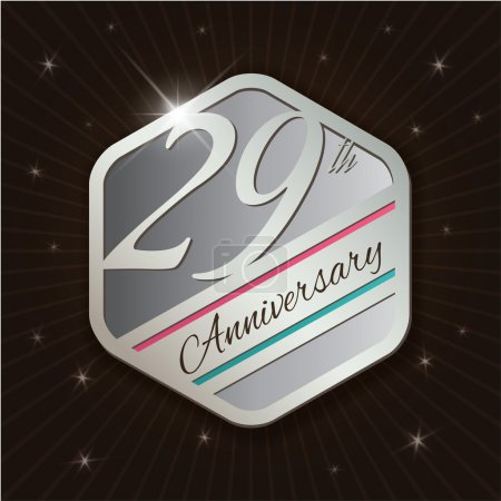 29th Anniversary - Classy and Modern silver emblem