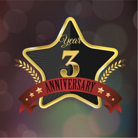 Anniversary golden star seal