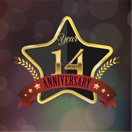 Anniversary golden star seal