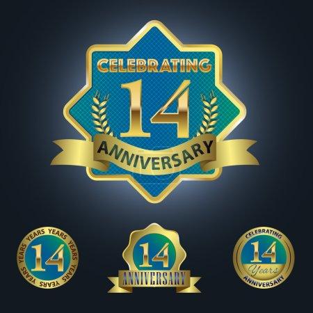 Set of 4 - Celebrating 14 Years Anniversary