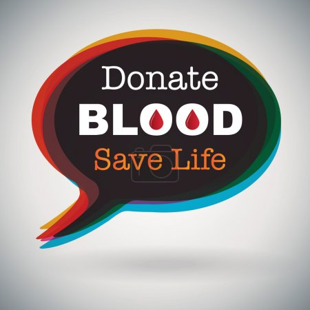 Donate Blood, Save Life -  speech bubble
