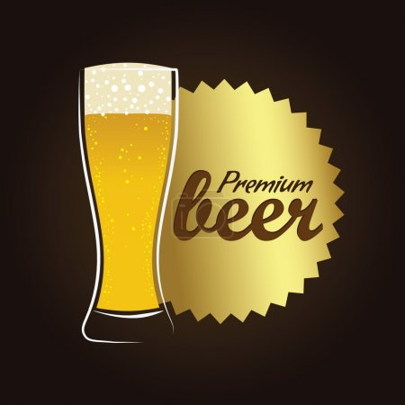 Refreshing Beer in Pilsner glass